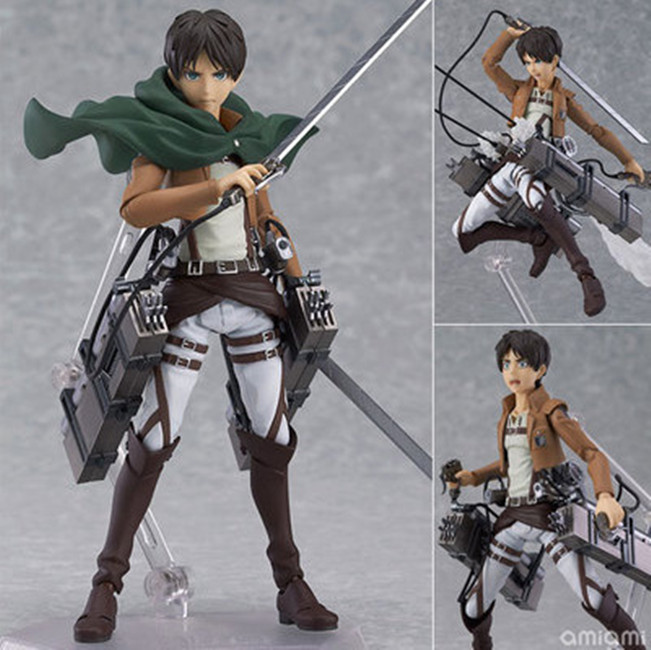 Attack on Titan Eren Jaeger Anime Figure Figma Brinquedos 207 Juguetes 6 PVC Action Figure Collectible Model Toys A184 new 1pcs 7 pvc anime figure alien neca 51617 action figure collectible model toys brinquedos