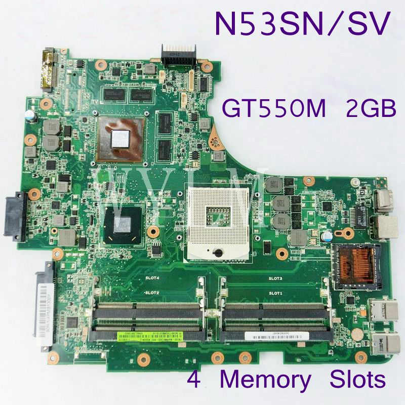 N53SN N53SV For ASUS N53S N53SN N53SV N53SM With GeForce GT550M 2G DDR3 4 RAM Solts REV 2.2 100% Tested Working Free Shipping laptop motherboard n53sv n53sn for asus n53s n53sn n53sm with geforce gt550m 2g ddr3 4 ram solts rev2 0 2 2 tested ok