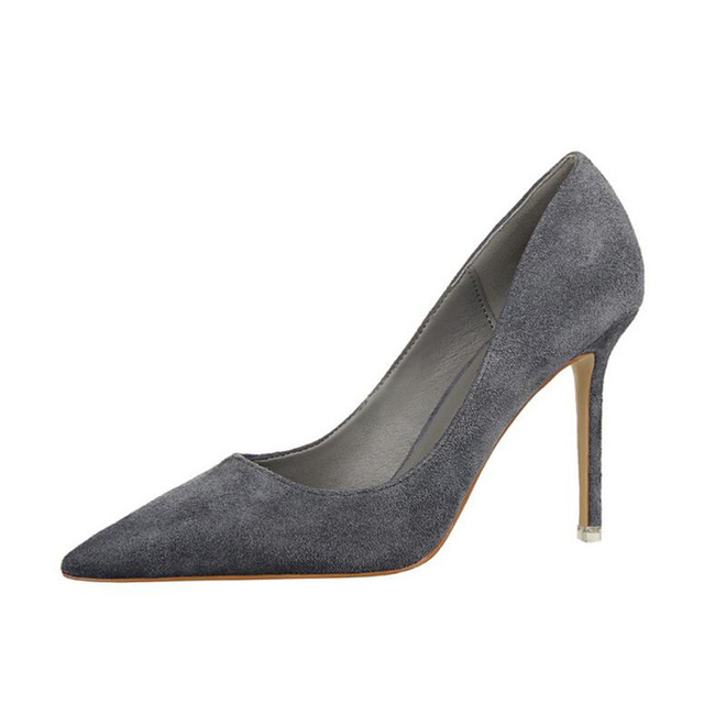 Bigtree свадебные туфли Для женщин Насосы Высокие каблуки острый носок пикантная женская обувь мягкие для леди Обувь на высоких каблуках k81