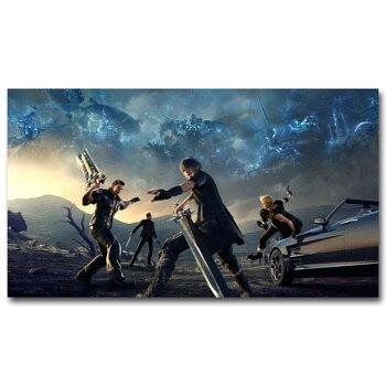 Шелковый плакат гобелен игра последняя фантазия Final Fantasy XV вариант 4