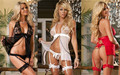 Cardigan Sexy Lingerie Sexy Costumes Front Open Cleavage Short Dress Cosplay Erotic Gauze Transparent Lace Doll Erotic Women
