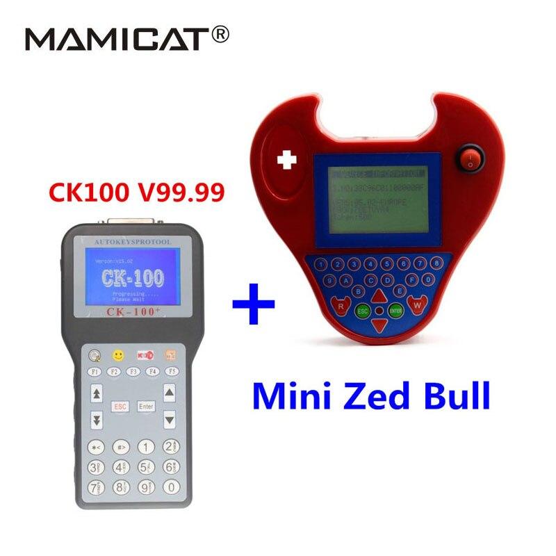 Новое поколение CK-100 V99.99 Универсальный с мини-zed-bull Auto Key Программист CK100 с многоязычным транспондера
