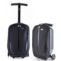 Letrend New Fashion Foldable Portable Skateboard Rolling Luggage 21inch Business Men Trolley Suitcases Student Travel Bag Trunk