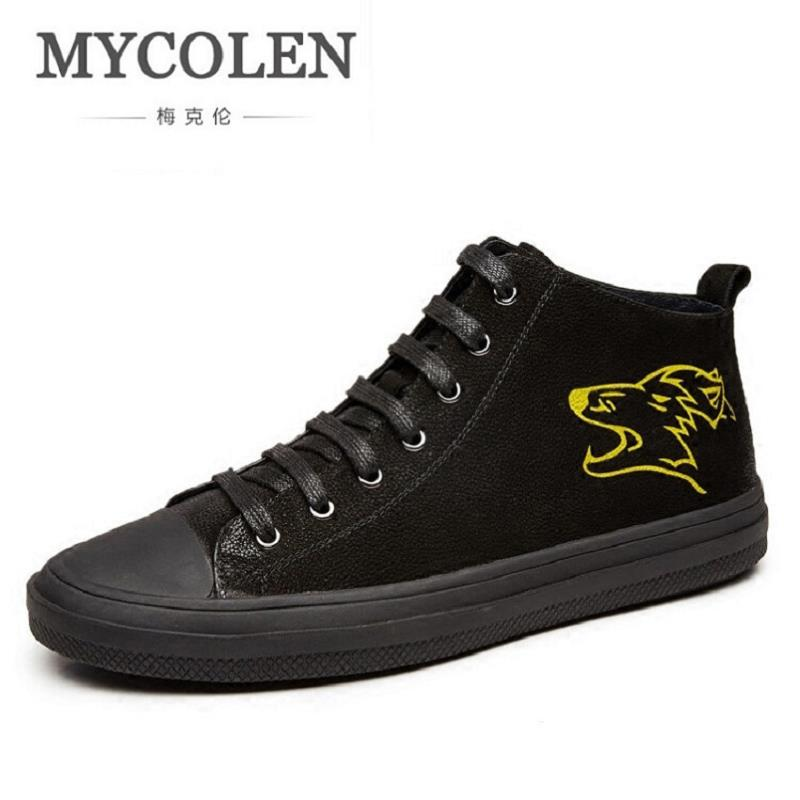MYCOLEN New Men's Flat Shoes Personality Breathable Black Vintage Casual Shoes Men Fashion Lace Up Plimsolls Espadrilles For Men 2017 fashion red black white men new fashion casual flat sneaker shoes leather breathable men lightweight comfortable ee 20