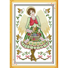 Angel girl cartoon for children bedroom decoration Counted Cross Stitch