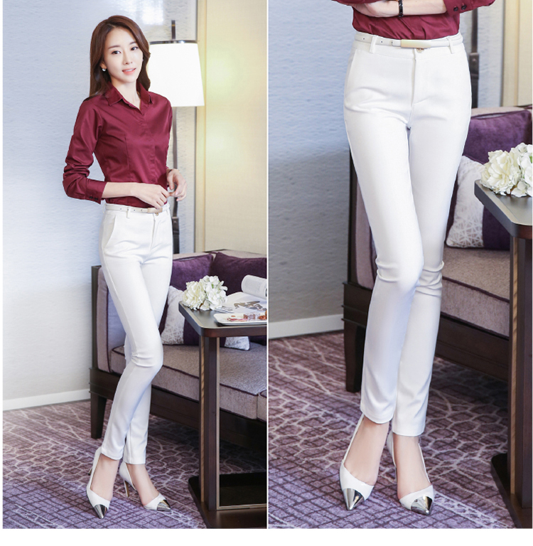 Women Pencil Pants 2019 Autumn High Waist Ladies Office Trousers Casual Female Slim Bodycon Pants Elastic Pantalones Mujer 25
