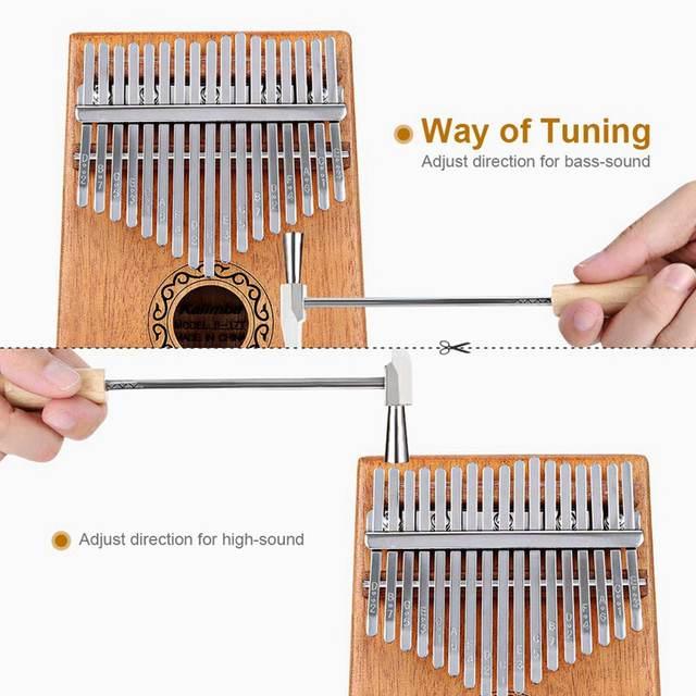 17 Keys Kalimba Thumb Piano Finger Piano Musical Toys With Tune Hammer And Music Book Piano Aliexpress