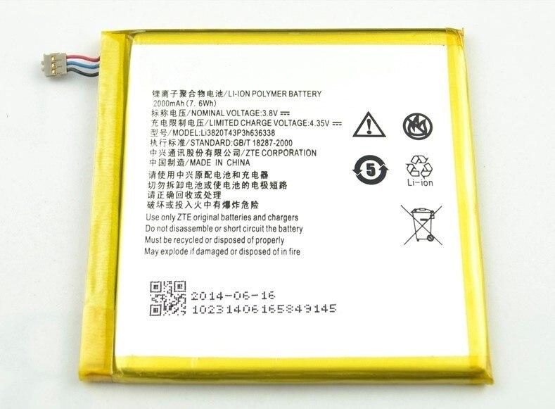 Kostenloser versand handy-akku 2000 mah LI3820T43P3H636338 für ZTE U879 u889 blade l2 mit guter qualität und besten preis