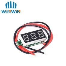 C51 10pcs 0.28 Inch 2.5V-40V Mini Digital Voltmeter Voltage Tester Meter Red/Blue/yellow/green LED S