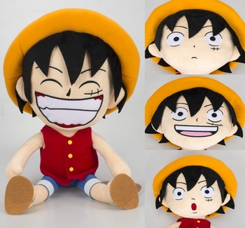 Anime One piece Plush Toy  Monkey D Luffy Straw Hat Doll Soft Stuffed Toys Gifts