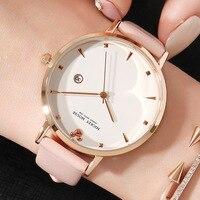 women wristwatches quartz genuine leather ladies clocks Disney brand Mickey mouse watches waterproof calendar Citizen movement