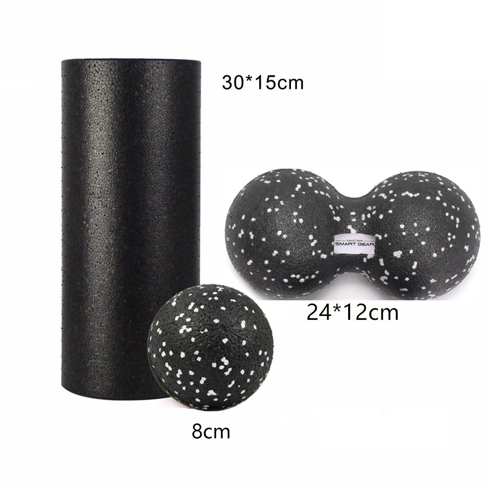 GR Treat Yoga Block EPP Foam Roller & Erdnussmassage Ball Set Fitness Für Physiotherapie Übung Muskel Fuß / Arm / Rücken