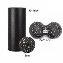 GR Treat Yoga Block EPP Foam Roller& Peanut Massage Ball Set Fitness For Physical Therapy Exercise Muscle Foot/Arm/Back