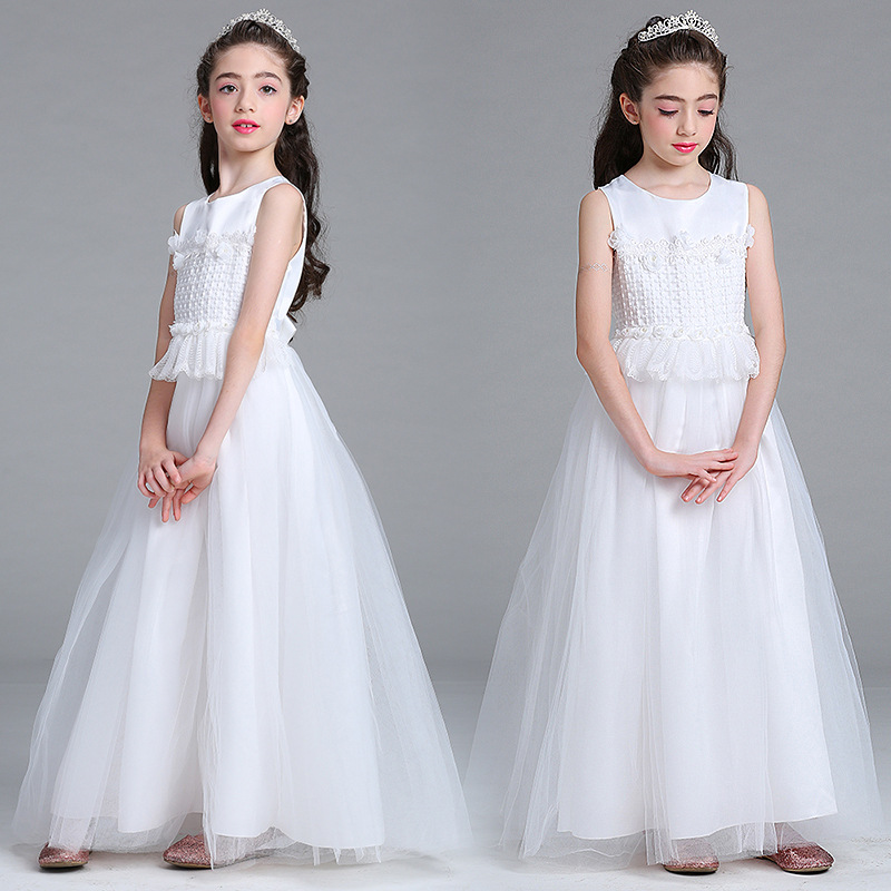Good Quality A-line Tank Sleeveless Brand New   Flower   Lace   Dresses     Girls   First Communion Pageant   Dresses   First Communion   Dresses