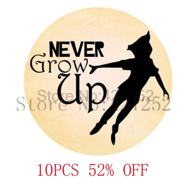 Never Grow Up Peter Pan Quote Peter Pan Art Pendant Jewelrypeter
