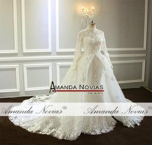 Image 4 - Amazing New Model Long Sleeve Muslim Wedding Dresses NS3374