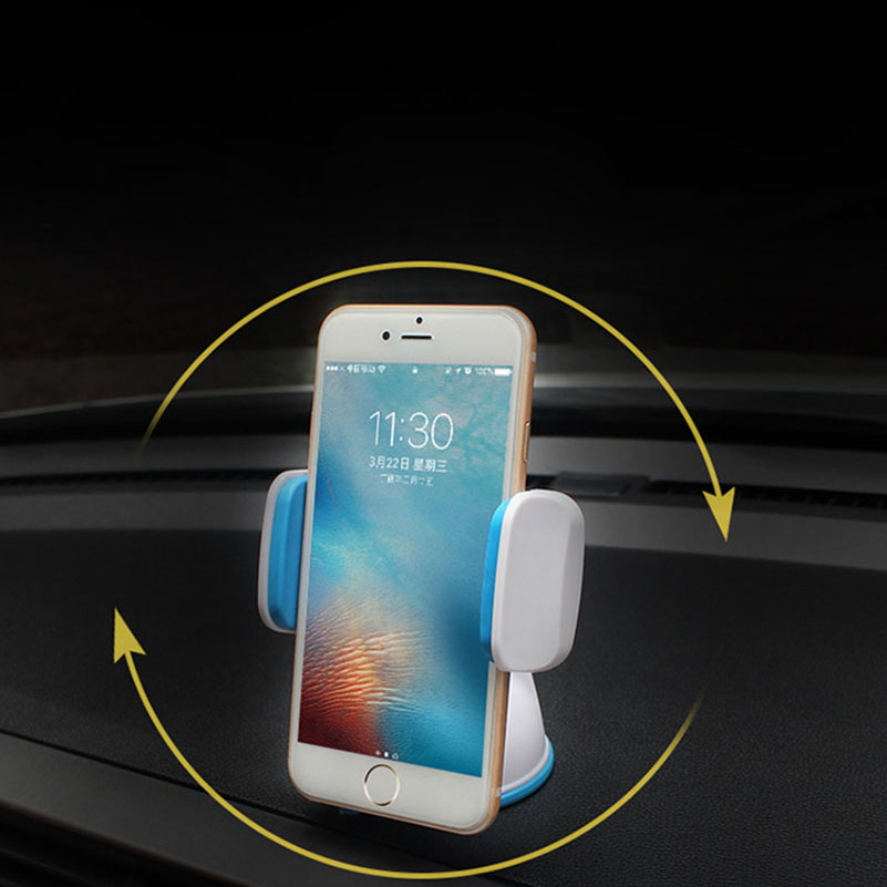 <font><b>Sucker</b></font> <font><b>Phone</b></font> Stand <font><b>Car</b></font> <font><b>Holder</b></font> Mount 360 Degree For 3.5&#8243; to 5.7&#8243; Smartphones iPhone 7plus Windshield GPS Stand Dock