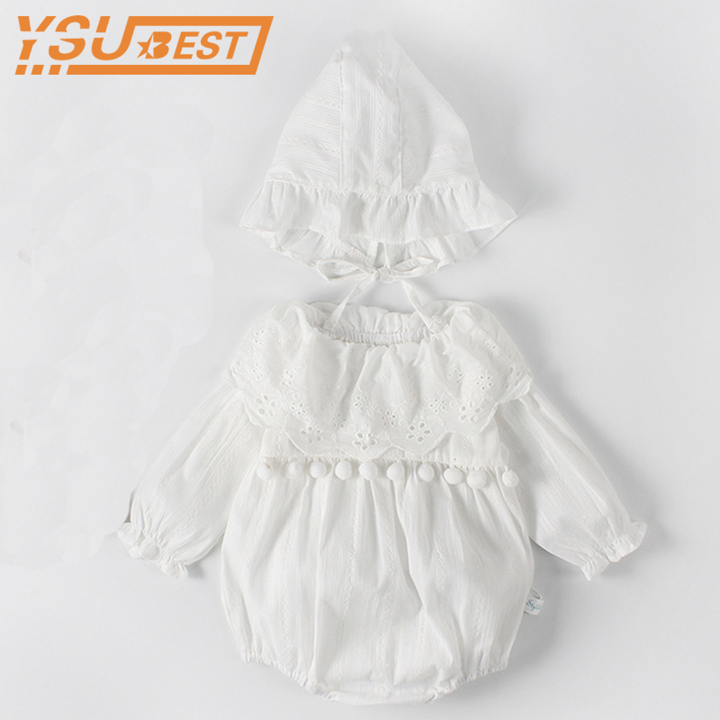 Baby Girls Clothes Spring Baby   Romper   Girl Long Sleeve Infant Newborn Baby Clothes Lace Princess 1st Birthday Party Clothes