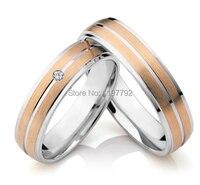 Скидка 2014 Дешевые мужского покроя Роза цвет золотистый titanium обручальное кольца наборы для юбилейной trauringe