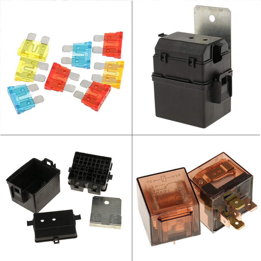 [EQHS_1162]  12V 2Way Circuit Car Boat Auto Automotive Relay Blade Fuse Box Holder Kits  archives.midweek.com | 12 Vdc Car Fuse Box |  | Midweek.com
