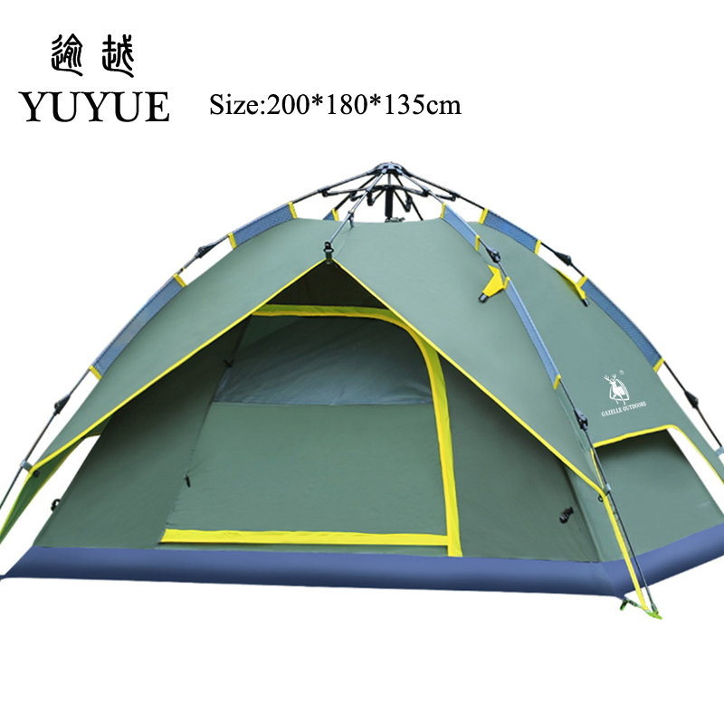 3-4 Person Pop Up Tent Quick Automatic Opening Waterproof Camping Equipment Tourism Travel Outdoors  Camping Tents 1