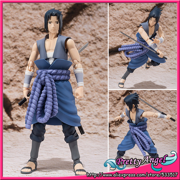 PrettyAngel - Genuine Bandai Tamashii Nations S.H.Figuarts Exclusive NARUTO Shippuden Uchiha Sasuke (VS ITACHI) Action Figure pu short wallet w colorful printing of naruto shippuden uchiha itachi