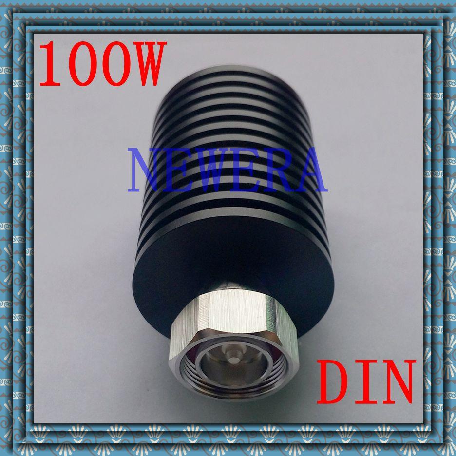 Low VSWR 100W DIN 7/16 RF dummy load termination load DC-3GHz 50ohm 6 inch 2 in 1 desktop clock display fan usb 2 speed 5 mini fanfutural digital drop shipping augg18