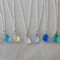 1 шт. 12-16 мм Ожерелье из Морского стекла с подвеской из искусственного морского стекла пляжное ожерелье Бохо ювелирные изделия для женщин по...