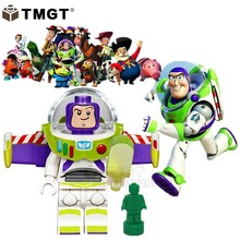 Buzz Lightyear Toy Story 4 juguetes Gaby Baby Gizmo E.T. boys cartoon Building Blocks Bricks Toys for Children Christmas gifts(China)