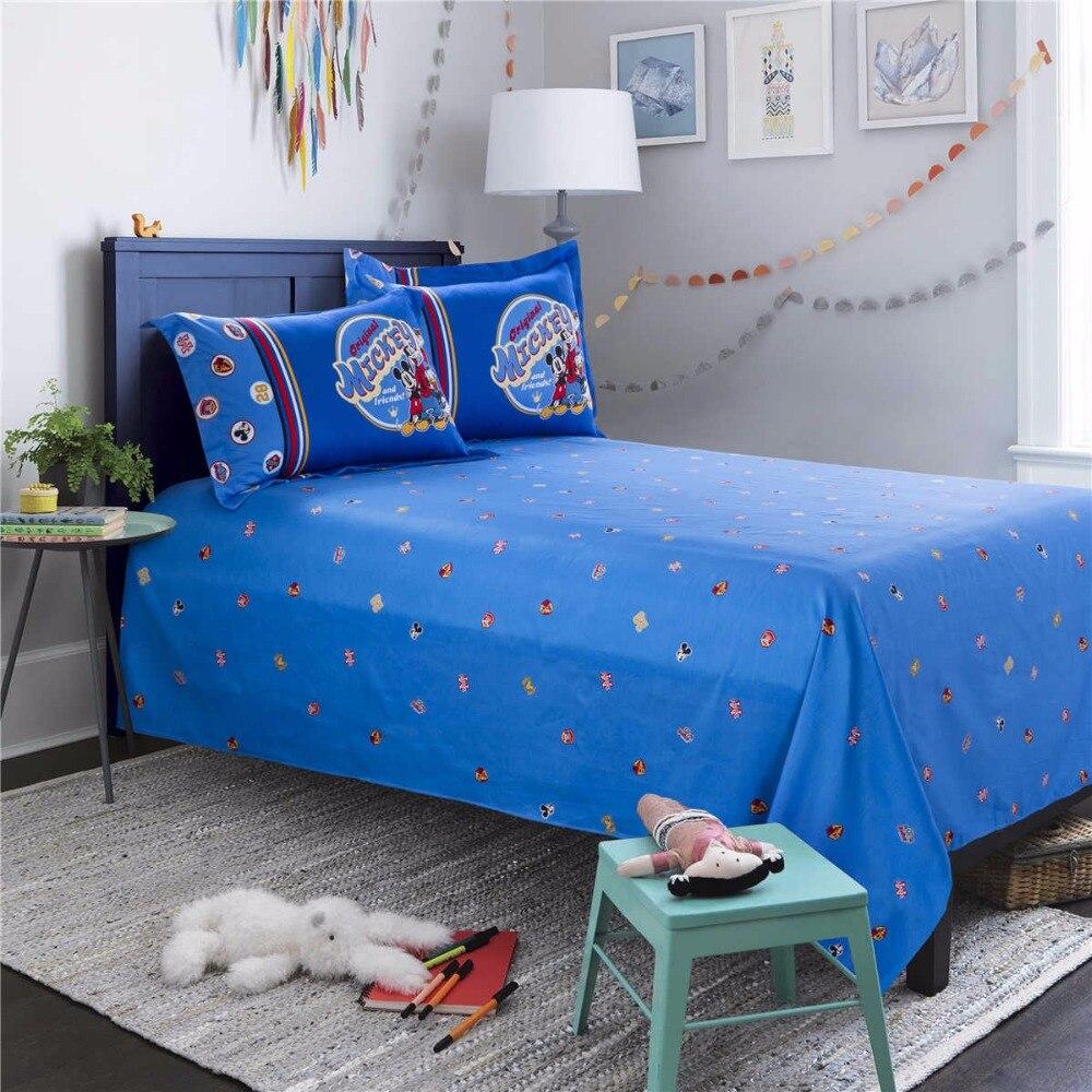 Azul disney mickey mouse juego de cama edredón reina tamaño twin full king size colcha de pareja niños dormitorio - 2