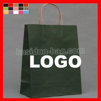 (1000pcs/lot) size W25xH32x12cm custom paper bag logo 1000pcs lot bc549c