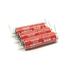 6pcs/lot New Genuine Maxell ER6 3.6V 2000mah Horned Lithium Li-ion Battery PLC Batteries