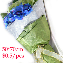 20pcs/roll embossed single-sided Wrapping Paper craft wrapping flower colorfull DIY plastic aluminum foil waterproof gift paper