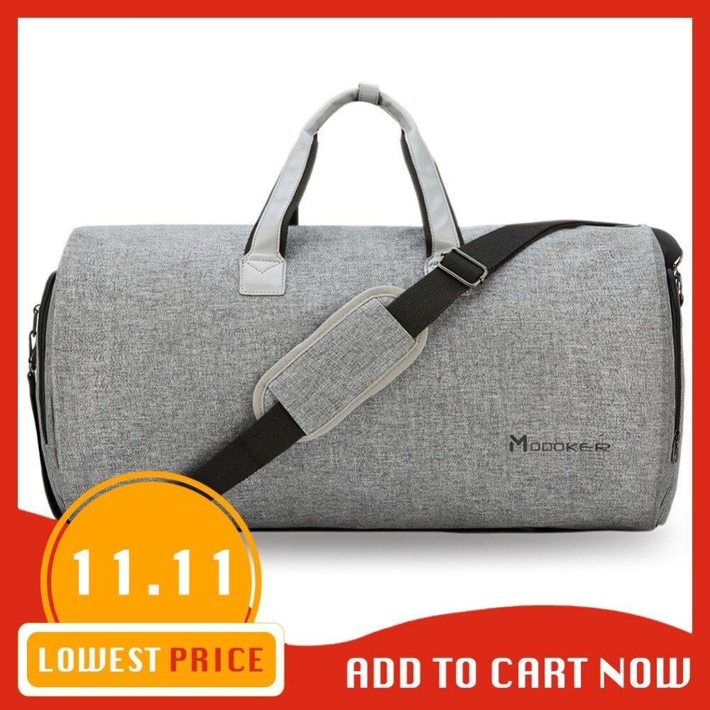 Modoker viajes bolsa con correa de hombro bolsa de lona en colgando maleta ropa bolsa múltiples bolsillos