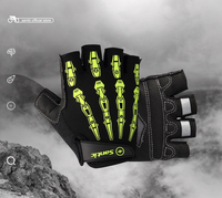 Santic Men Cycling Short Gloves Half Finger Cool Feeling Anti Pilling Anti Static Sun Protective Cycling