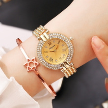 Ladies Wrist Watch Dress Gold Women Crystal Diamond Watches Stainless Steel Silver Clock Montre Femme relogio 2019