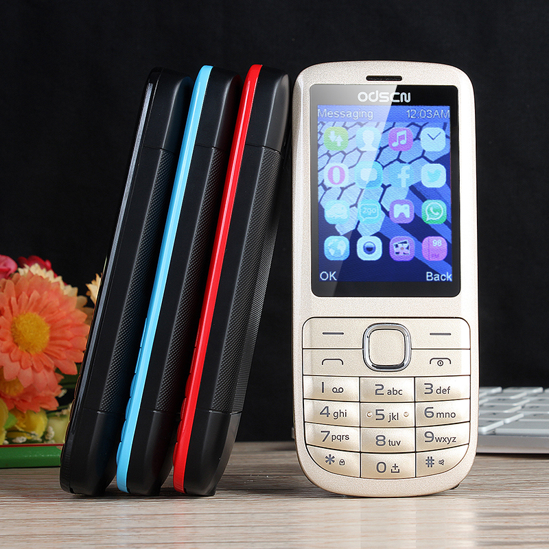 Foreign C3 2.4 Inch Whatsapp Dual Card Dual Key Four Band Mobile Phone