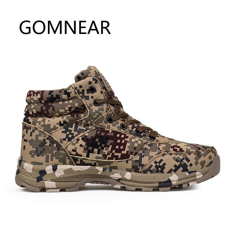 GOMNEAR Wandelschoenen Voor Mannen Winter Sneakers Voor Mannen Outdoor Toerisme Bergbeklimmen Schoenen Anti-slip Camping Jacht Laarzen