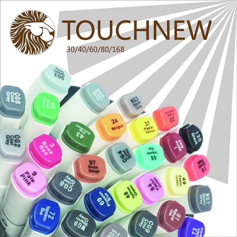TOUCHNEW 30/40/60/80Color Dual Head Art Marker Set,Alcohol fine Sketch Marker Pen for Artist Drawing Manga Design Art Supplier touchnew 168 colors artist painting art marker alcohol based sketch marker for drawing manga design art set supplies designer