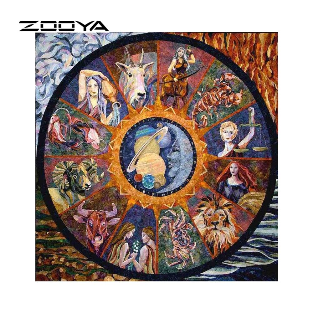 ZOOYA Diamante Bordado El Zodiaco Completo Pintura Diamante Kits DIY - Artes, artesanía y costura