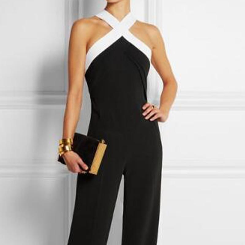 2018 Neue Mode Catsuit Jumpsuit Für Frauen Sexy Qualität Schulter Farbe Taille Weibliche
