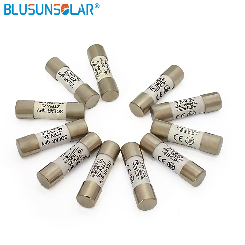 100 pieces lot high quality Solar PV Fuse for Solar System Protection 3A 15A 1000V 10