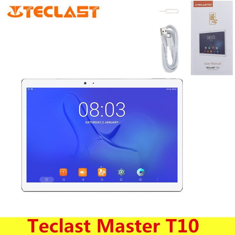 Teclast Maître T10 10.1 pouce Tablet PC Android 7.0 MTK8176 Hexa Core 1.7 GHz 4 GB 64 GB Capteur D'empreintes Digitales Double WiFi OTG caméras
