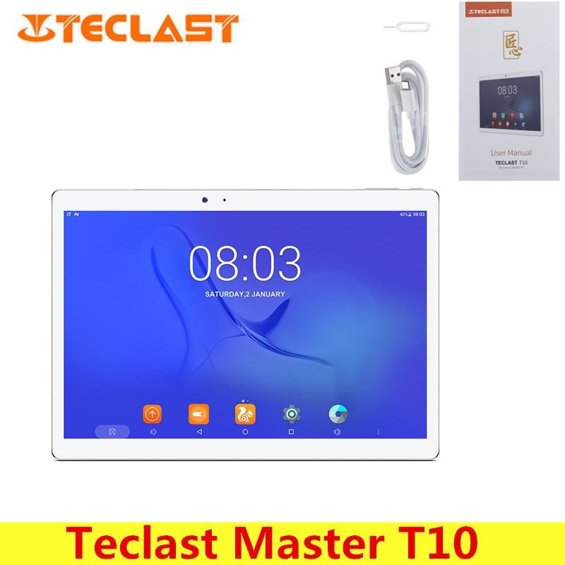 Teclast Mestre T10 10.1 polegada Tablet PC Android 7.0 MTK8176 Hexa Núcleo 1.7 GHz 4 GB 64 GB Fingerprint Sensor Dual WiFi OTG câmeras