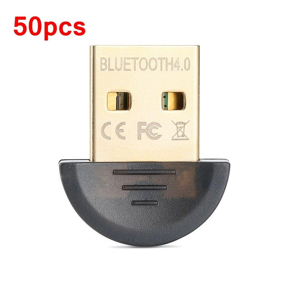 50 pièces Mini USB Dongle Bluetooth Adaptateur V4.0 Double Mode Dongle Sans Fil RSE 4.0 Pour Ordinateur Portable PC Win Xp Win7/8 téléphone