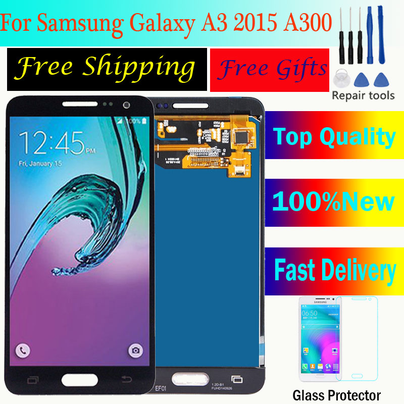 <font><b>LCD</b></font> For <font><b>Samsung</b></font> Galaxy A3 2015 <font><b>A300</b></font> A3000 A300F A300M <font><b>LCD</b></font> Display+Touch Screen Assembly brightness Can adjust 100% Tested TFT image