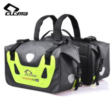 CUCYMA Motorcycle Bag Tank Bags Waterproof Motorbike Saddle Bags Saddle Long-distance Motorcycle Travel Bag ring detail saddle bag