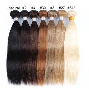 Image 5 - Mogul שיער הודי שיער Weave חבילות ישר חבילות צבע 4 שוקולד חום שחור רמי שיער טבעי הארכת 10 26 אינץ