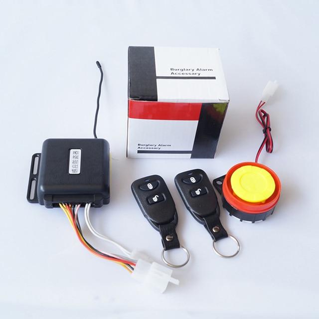 Sistema de alarme da motocicleta anti-roubo sistema de alarme da motocicleta moto anti-roubo de alarme de segurança com proteção 4-botão do controle remoto contro