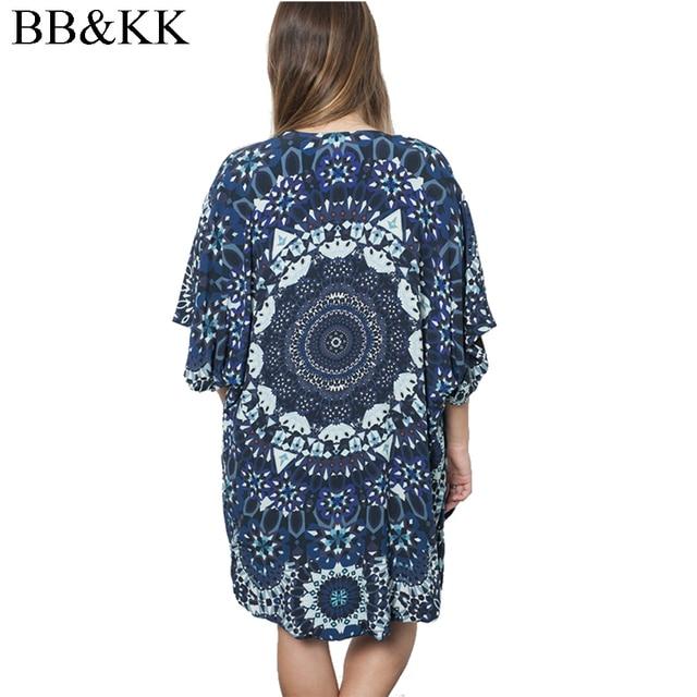 0671c7ce75e4d 2016 Fashion Women Spring Summer Blouses Floral Print Casual Beach Boho  Kimono Cardigan Ladies Long Blusas Cover Up Tops S-XL